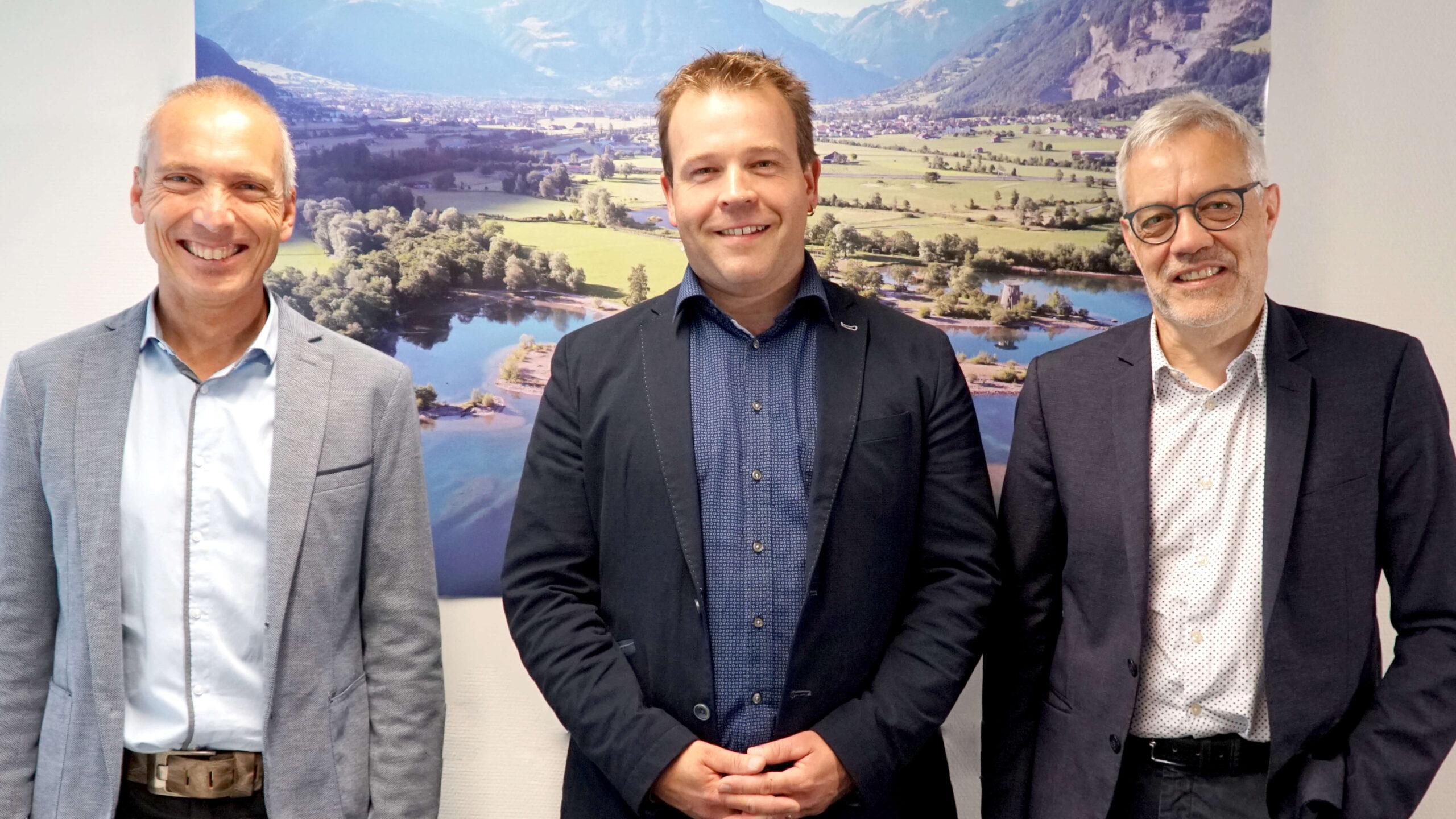 Projektleiter Roland Senn, GSUD Christian Arnold, AfU Alexander Imhof